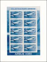 Airplane mini sheet, Repülő kisív