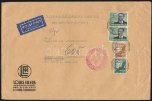 Airmail cover to Argentina with 4,75 RM franking, Légi levél Argentínába 4,75 RM bérmentesítéssel
