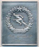1951. Budapest Honvéd S.E. - A jó munkáért ezüstözött fém plakett (61x50mm) T:2