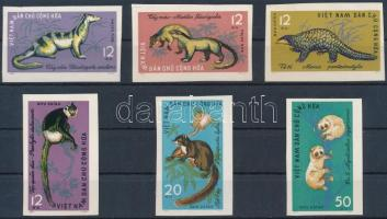 Wildlife imperforated set, Vadvilág vágott sor