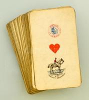 cca 1903-1912 Piatnik 54 lapos tarokk kártya pakli, kártyailleték bélyeggel, egy sérült lappal, apró kopásokkal