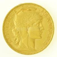 Franciaország 1905. 20Fr Au (6,46g/0.900) T:2  France 1905. 20 Francs Au (6,46g/0.900) C:XF Krause KM#847