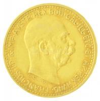 Ausztria 1910. 10K Au Ferenc József (3,38g/0.900) T:2 Austria 1910. 10 Corona Au Franz Joseph (3,38g/0.900) C:XF Krause KM#2816