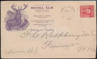 1904 Dekorativ szállodai boríték / Decorative hotel cover