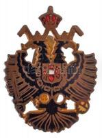 Osztrák-Magyar Monarchia DN Az osztrák császári címert ábrázoló zománcozott patrióta gomblyukjelvény (21x28mm) T:1-,2 Austro-Hungarian Monarchy ND Enamelled patriotic buttonhole pin depicting the Austrian coat of arms (21x28mm) C:AU,XF