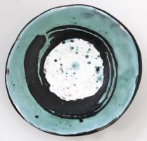 Iparművészeti Vállalatos Gorka Lívia tálka, mázas kerámia, jelzett, hibátlan, d: 11 cm