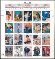 ;American illustrators self-adhesive mini sheet, Amerikai illusztrátorok öntapadós kisív