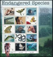 Endangered animals mini sheet, Veszélyeztetett állatok kisív