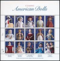 Dolls minisheet, Játékbabák kisív