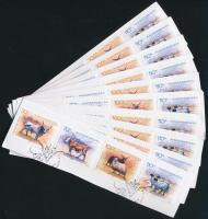 2005 Élő örökségünk 10 sor és 10 blokk FDC kivágásokon (bélyegzett ár 18.600)