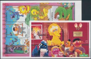 Television children programs minisheet + block, Sesame Street televíziós gyermekműsor kisív + blokk