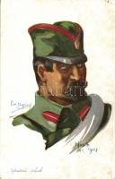 Serbian infantry soldier s: Emile Dupuis, Szerb gyalogsági katonas: Emile Dupuis