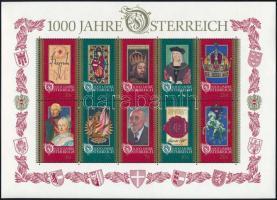1000th anniversary of Austria block, 1000 éves Ausztria blokk