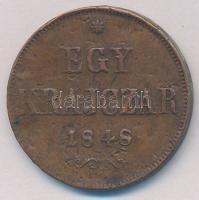 1848. 1kr Cu T:2,2- ph. Adamo B1