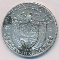 Panama 1931. 1/4B Ag T:2 Panama 1931. 1/4 Balboa Ag C:XF