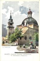 Kraków, Krakau, Krakkó; Kosciól sw. Wojciecha i wieza Ratuszowa / St. Adalbertkirche u. Rathausturm / Church of St. Adalbert, town hall tower s: St. Tondos
