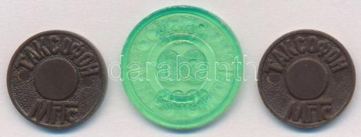 3db-os műanyag orosz zseton tétel T:2 3pcs of plastic Russian jetons C:XF
