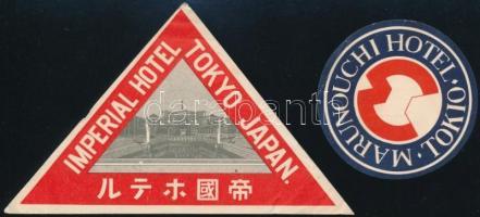 Tokio Imperial Hotel, Marunouchi Hotel 2 db háború előtti japán hotel címke. / 2 pre-1945 Japanese hotel labels from Tokyo