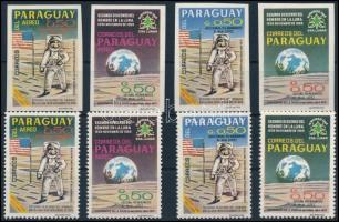 Paraguay Apollo 11 perforated + imperforated set, Paraguay Apolló 11 fogazott + vágott sor