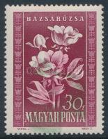 1950 Virág (I.) 30f a zöld szín jelentős eltolódásával, luxus minőség!