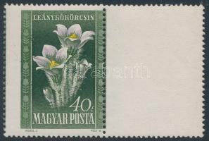 1950 Virág (I.) 40f jobb oldalon üres mezővel, elfogazással