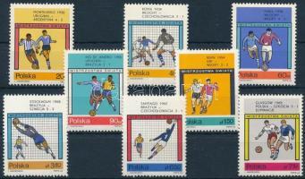 1966 Labdarúgó világbajnokság, London sor, Fußballweltmeisterschaft, London set Mi 1665-1672