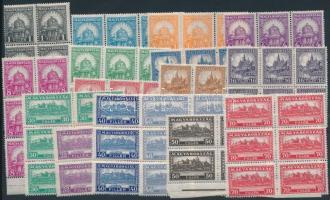 1926 Pengő-fillér (I.) sor 6-os tömbökben (150.000) (ráncok / creases)