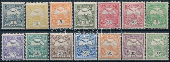 1909 Turul 1, 2, 3, 6, 10, 50 (**), 5, 12, 16, 20, 25, 30, 35, 60 f (*) (15.900)