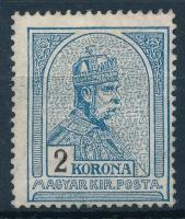 1913 Turul 2 K fekvő vízjellel, újragumizott (*26.000)