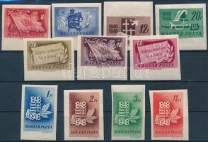 1948 Centenárium vágott sor (80.000) (apró törések / light creases)