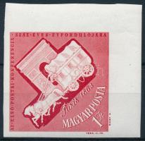 1963 Nagy idők - nagy események ívsarki vágott 1Ft Az első nemzetközi postai konferencia (1.600)