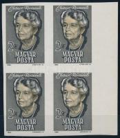 1964 Eleanor Roosevelt ívszéli vágott 4-es tömb (6.000)