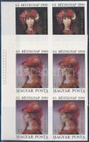 1990 Bélyegnap (63.) - Festmények (XXII.) sor ívsarki vágott 4-es tömbökben (18.000)