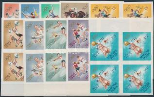 1964 Olimpia (IV.) - Tokió vágott sor ívszéli 4-es tömbökben (16.000)