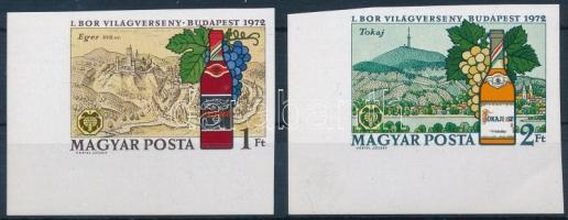 1972 I. Borvilágverseny ívsarki vágott sor (2.500)