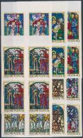 1972 Üvegfestmények sor ívszéli vágott 4-es tömbökben (14.000)