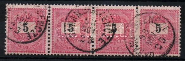 1889 5kr négyescsík GARAMBERZENCZE