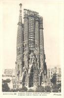 Barcelona, Sagrada Familia, Fachada de Navidad / church with construction racks, unfinished / befejezetlen kivitelezés