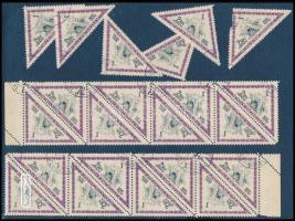 1953 Madarak 2,50 Ft záróérték 2 x 1/2 ív ívszéllel, 2 x 8-as ív fordított képállással, 6 db bélyeg (~27.000)