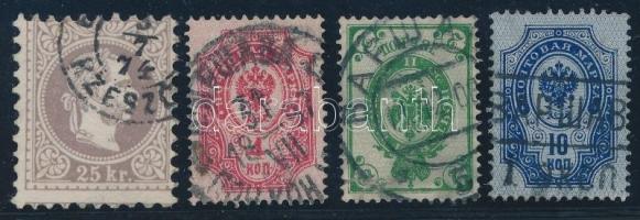 4 db klasszikus bélyeg