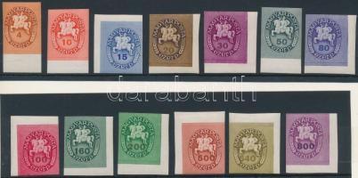 1946 Lovasfutár ívszéli vágott sor festékcsíkkal, luxus (20.000)