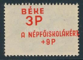 1945 Béke (I.) 3(+9)P f az ívbehajlás miatt létrejött hátoldali nyomattal