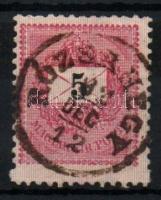 1889 5kr kimaradt fogsor RÓZSAHEGY