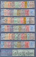 Szépen rendezett Turul gyűjtemény / tétel, 868 db bélyeg 12 lapos közepes berakóban, sok sorral, bélyegzésekkel, összefüggésekkel