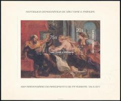 1977 Rubens festmény de luxe blokk, Rubens painting de luxe block Mi 2