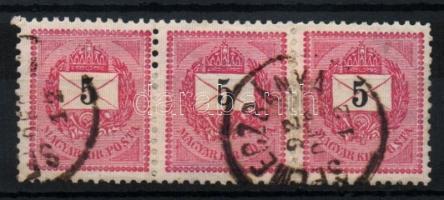 1889 5kr hármascsík SELMECZBÁNYA