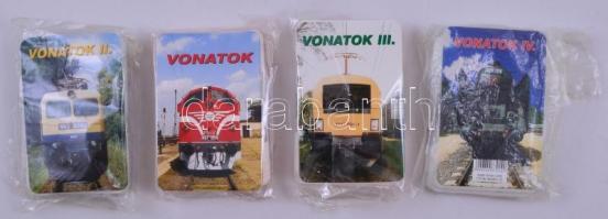 Vonatok / Bahnen I-IV. négy pakli játékkártya