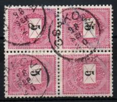 1889 5kr négyestömb CSAKOVA
