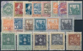 1914 19 db klf okmánybélyeg 100 K záróértékkel