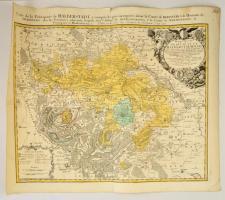 1750 Mappa specialis principatus Halberstadtis - Halberstadt térképe. Johann Baptist Homann:. Színezett rézmetszet / Map of Princedom Halberstadt . Belgium. Colored copper plate engraving. 63x55 cm